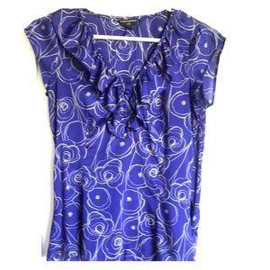 Banana Republic blue/silver blouse